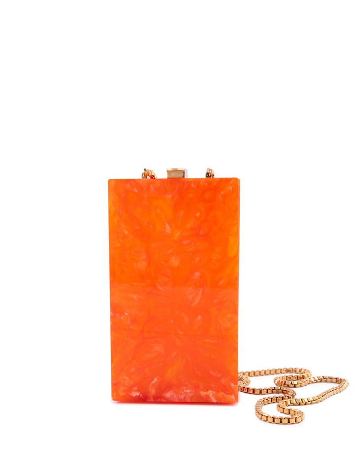 Orange Marble Vertical Capsule