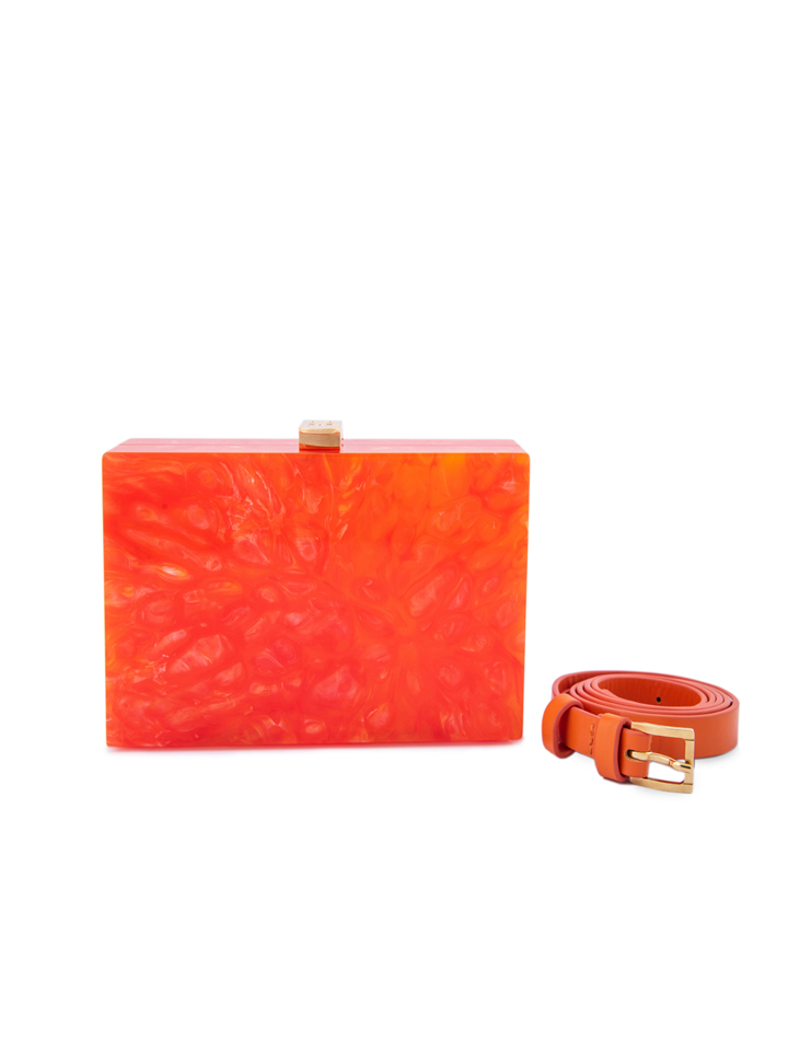 Orange Marble Horizontal Capsule