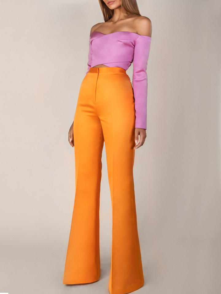 X Crop Top /Flared Pants